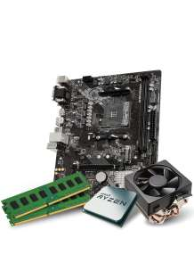 Kit Processeur Ryzen 5 3600 + Carte Mère MSI B450M PRO-VDH + Mémoire RAM 16Go DDR4 3200