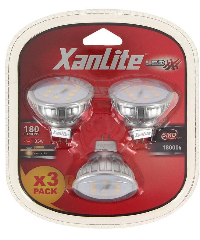 3 ampoules Xanlite GU5,3