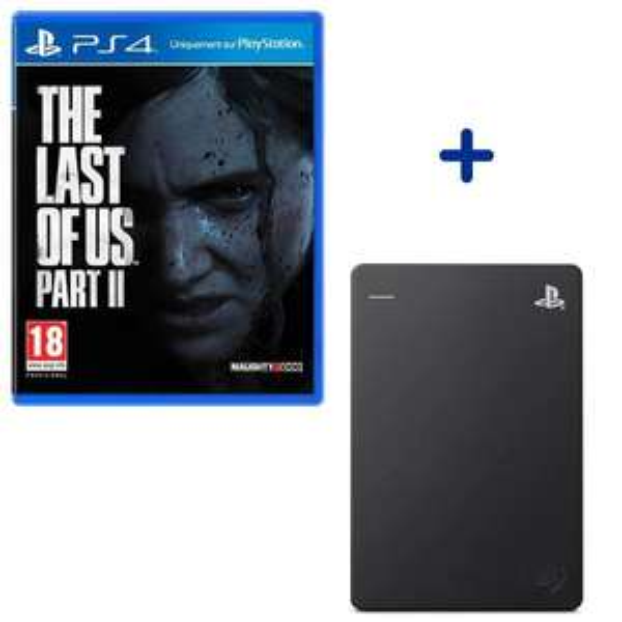 Bundle The Last of Us Part II sur PS4 + disque dur externe Seagate Game Drive 2.0 PS4 (2 To)