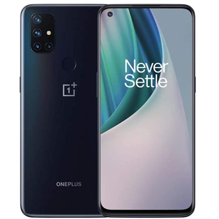 """Smartphone 6.49"""" OnePlus Nord N10 - 5G, Full HD+ 90 Hz, Snapdragon 690, RAM 6 Go, 128 Go, Gris (vendeur tiers)"""