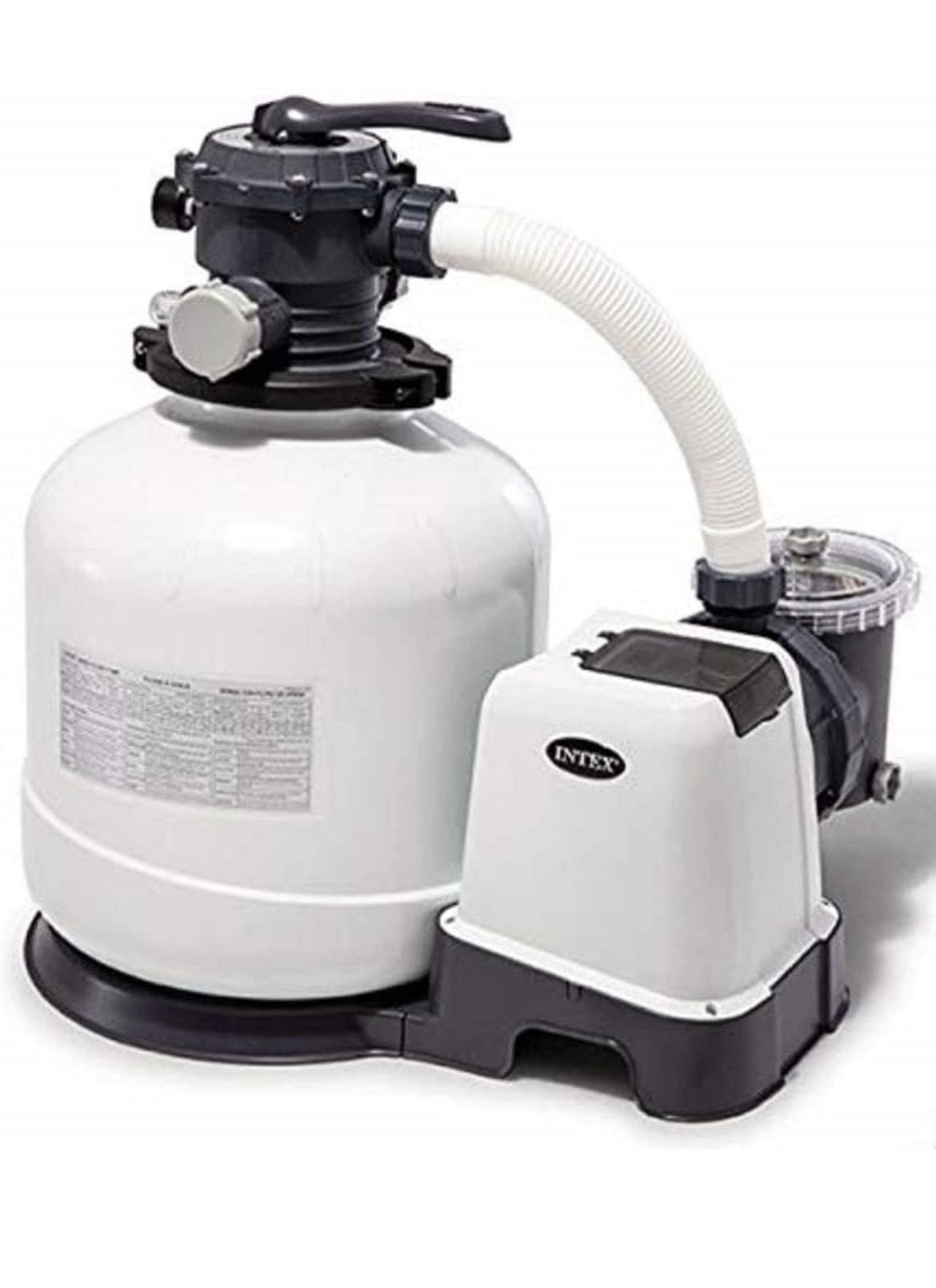 Filtre à Sable Intex - 10m3/h, Blanc