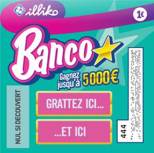 1 ticket Banco à 1€ acheté = 1 ticket Banco à 1€ offert (via Shopmium)