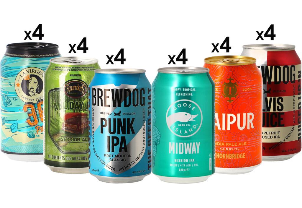 Pack de 24 canettes de bière IPA et Pale Ale MegaPack