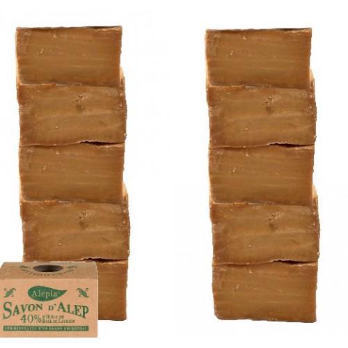 Lots de 10 Savons D'Alep - 40% d'huile de baie de laurier