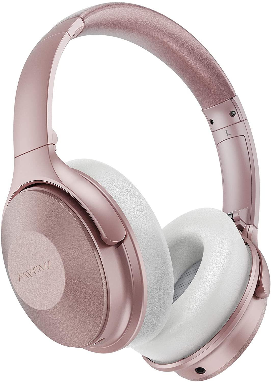 Casque Bluetooth Mpow H17 - Réduction de bruit, Autonomie 45h, Pliable, Micro CVC 6.0 (Rose) - Vendeur tiers