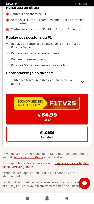 Abonnement d'un an au service F1 TV Pro - sans engagement (dématérialisé) - Formula1.com