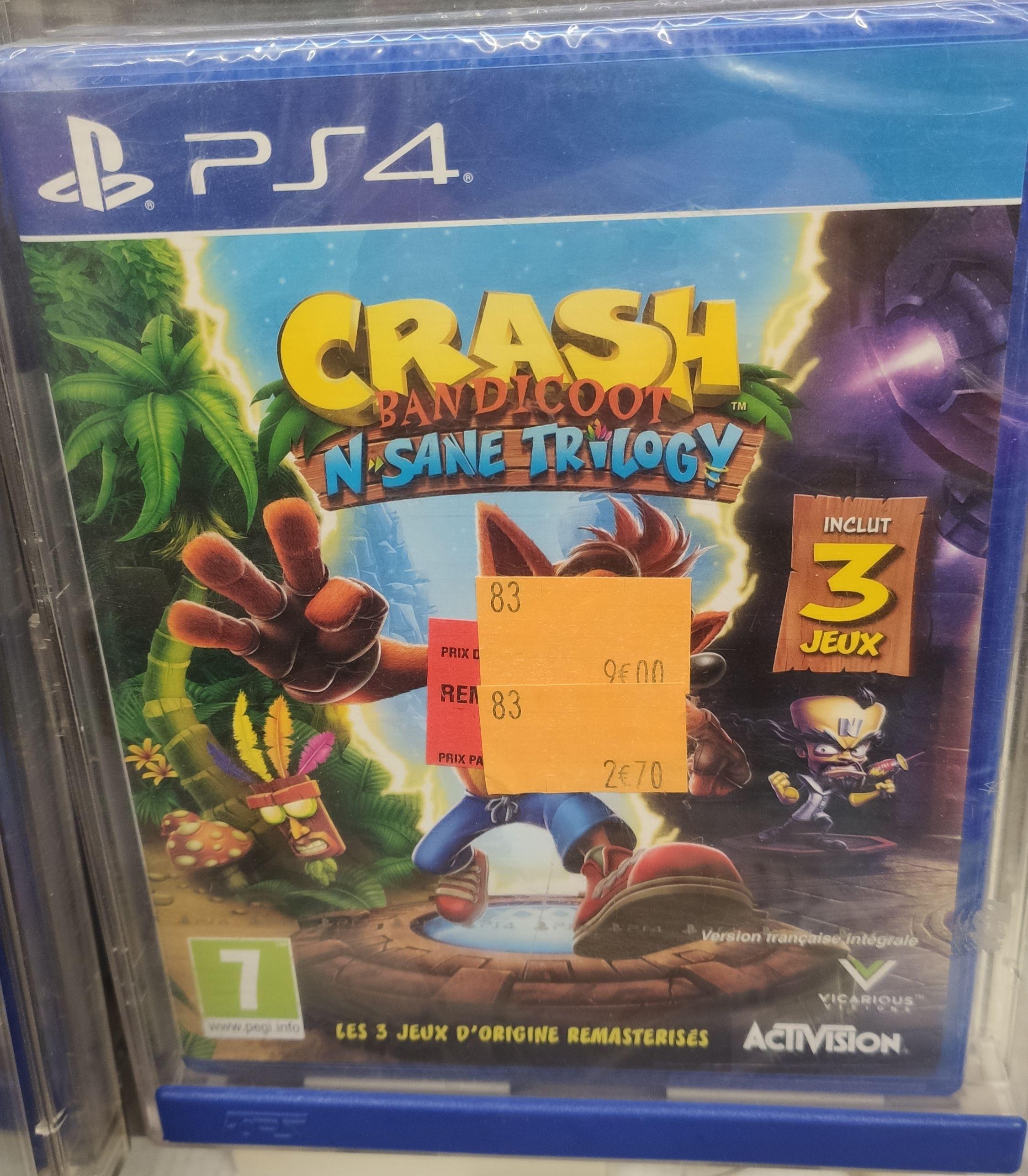 Crash Bandicoot: N. Sane Trilogy sur PS4 - Carrefour Outlet Le Mans (72)