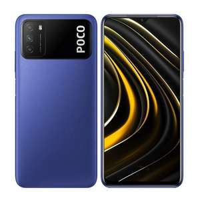 "Smartphone 6.53"" Xiaomi Poco M3 - 4 Go RAM, 64 Go, Bleu (Vendeur Tiers)"