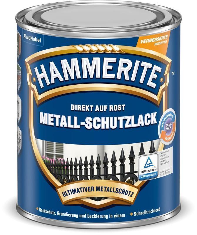 Peinture métal antirouille Hammerite en promotion (plusieurs contenances et coloris) - Ex : Gris argent brillant, 2,5L (rubart.de)