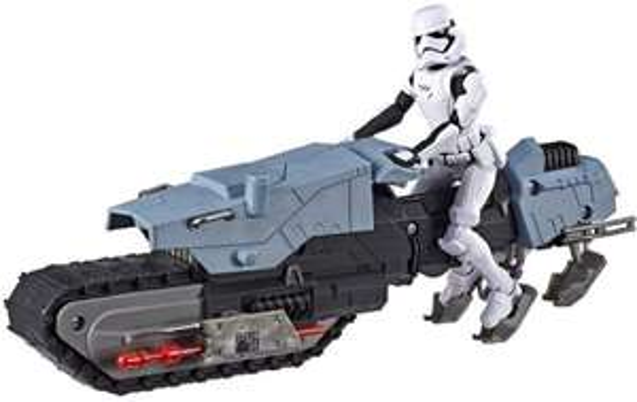 Star Wars Galaxy Of Adventure - Figurine 12 cm et Véhicule Treadspeeder (issus de l'épisode 9)