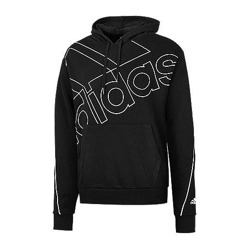 Sweat-shirt à capuche ADIDAS homme- noir (du S au XXL)