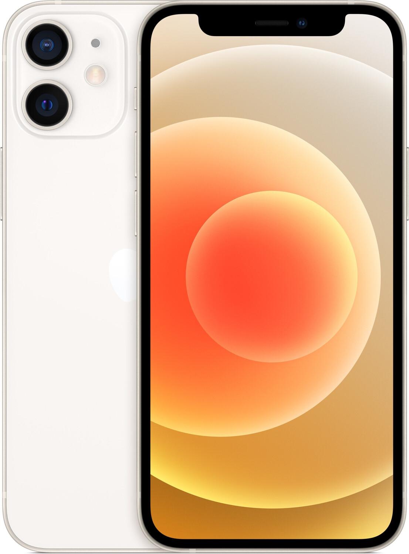 "Smartphone 5.4"" Apple iPhone 12 mini (full HD+, A14, 4 Go de RAM, 64 Go, blanc) - MatosPasCher.com"