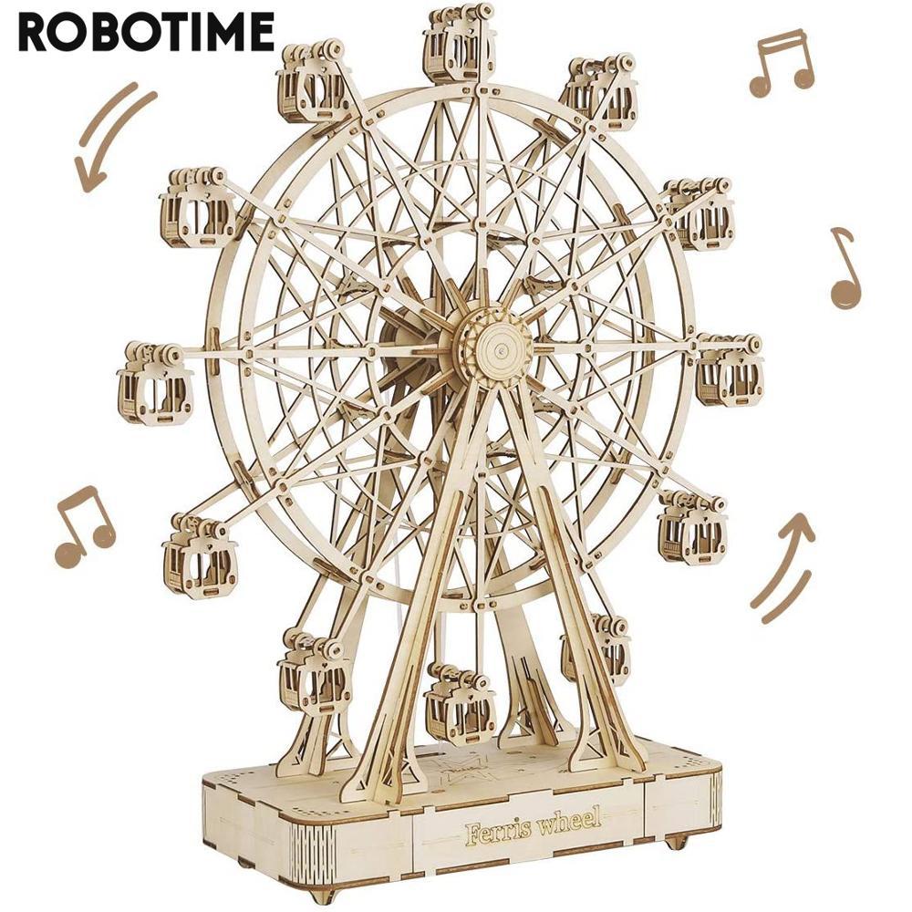 Kit construction 3D en bois Robotime - Grande roue avec Musique