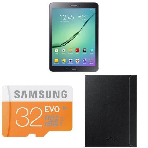 """Tablette 9.7"""" Samsung Galaxy Tab S2 Noir - 2048x1536, Octa-Core 1,9 Ghz, RAM 3Go, 32 Go + Étui + MicroSDHC Samsung EVO 32 Go (via ODR 50€)"""