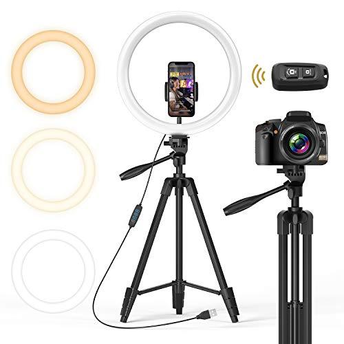 """Pack Photo / Vidéo Tonor - Anneau Lumineux 12"""" + Trépied + Obturateur Bluetooth + Support pour Smartphones (Via Coupon - Vendeur Tiers)"""