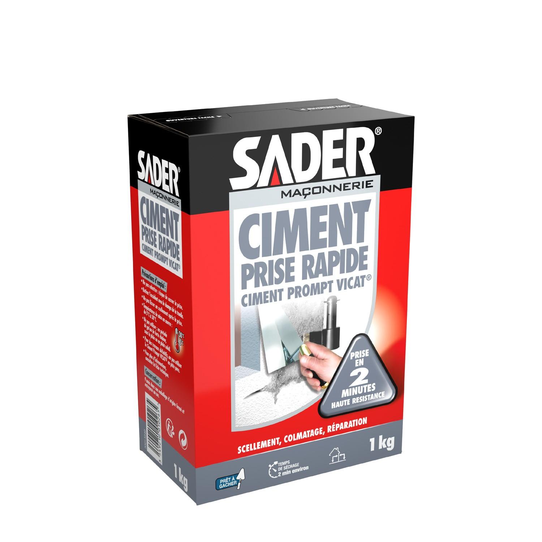 40% de réduction sur une sélection de produits Sader - Ex : Ciment prise rapide prompt Vicat blanc Sader
