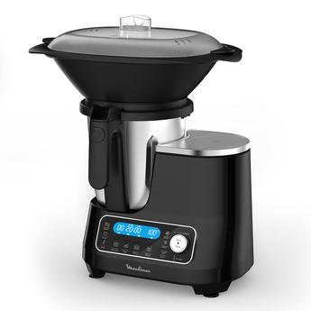 Robot de cuisine Moulinex Clickchef 1400 X HF456810 (1400 W, noir) - avec cuiseur vapeur externe