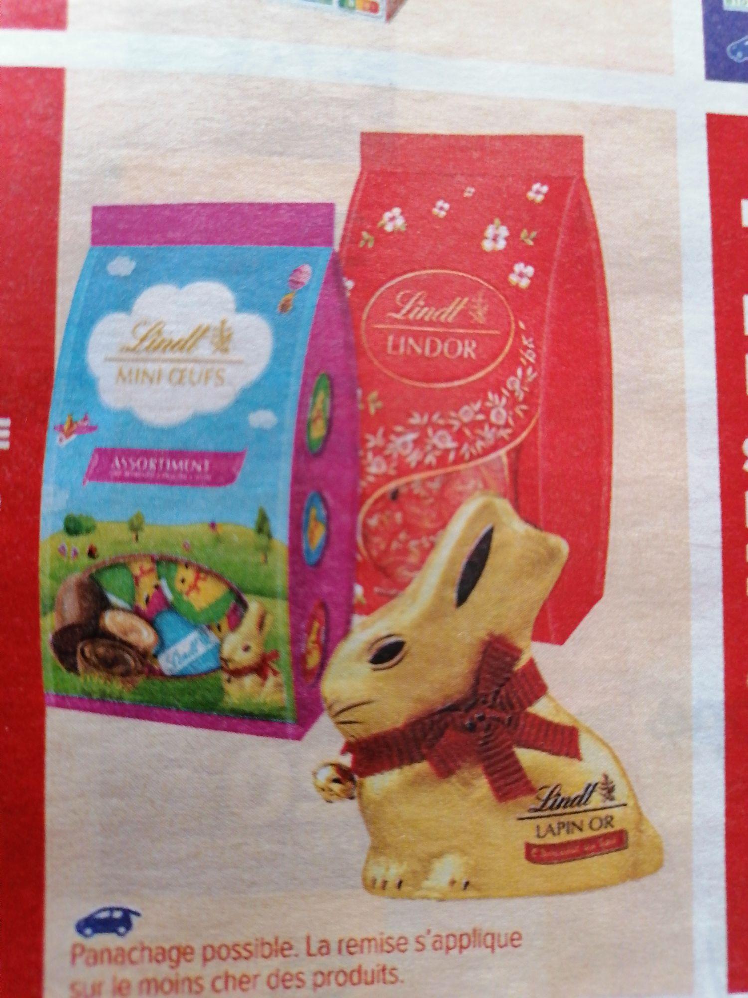 50% de réduction sur le 2nd chocolat de Pâques Lindt
