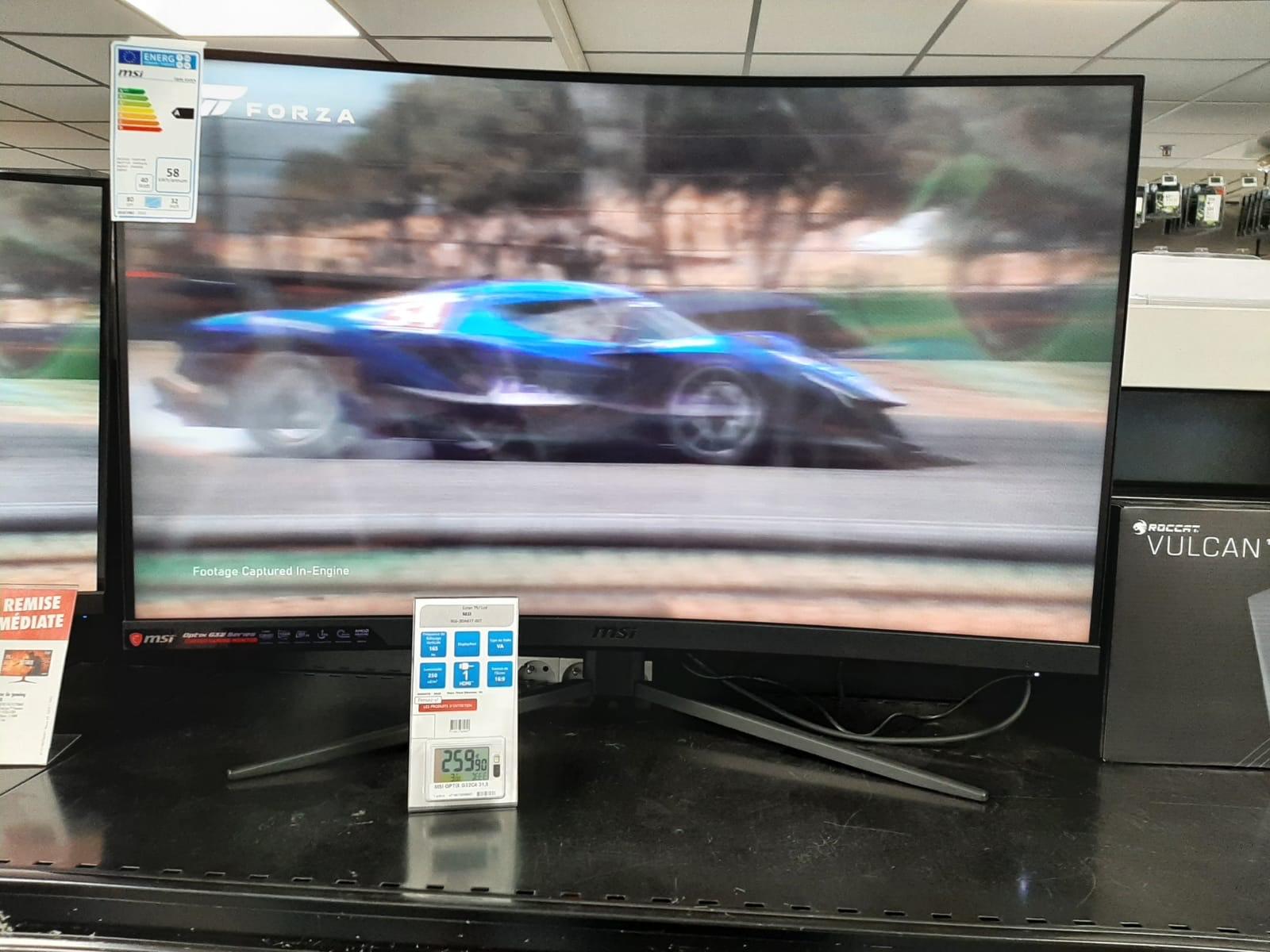 "Écran PC incurvé 31.5"" MSI Optix G32C4 (full HD, LED VA, 165 Hz, 1ms, FreeSync) - Pontault-Combault (77)"