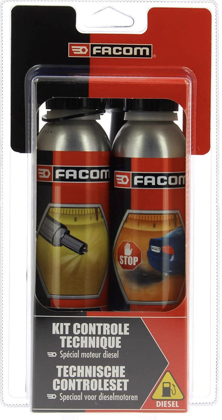 Kit Contrôle Technique Diesel Facom 006020 - Nettoyant Injection & Traitement Anti-fumées - 2 x 300ml