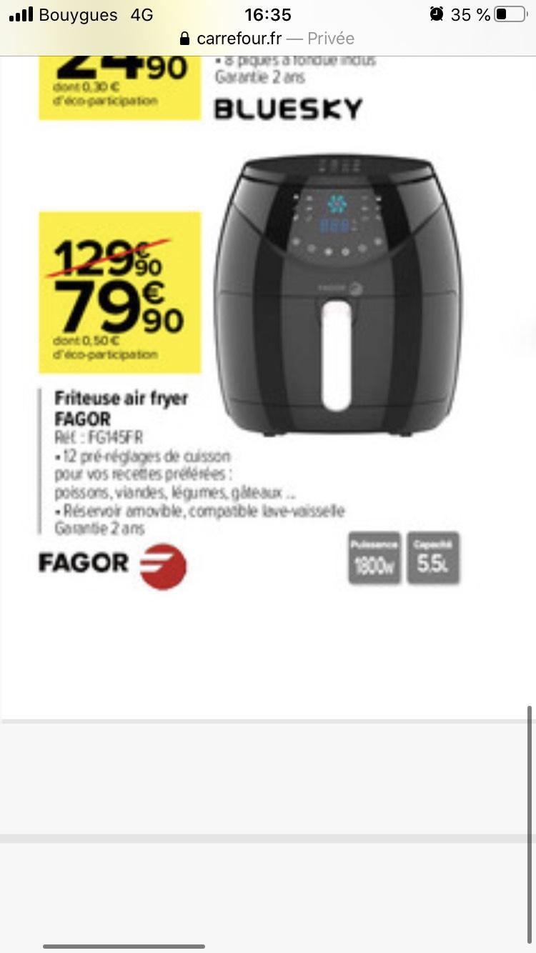 Friteuse sans huile Fagor Air Fryer FG145FR