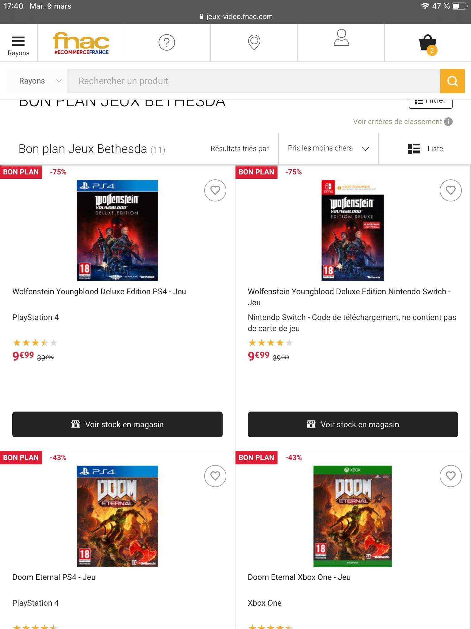 Sélection de jeu switch ps4 Xbox