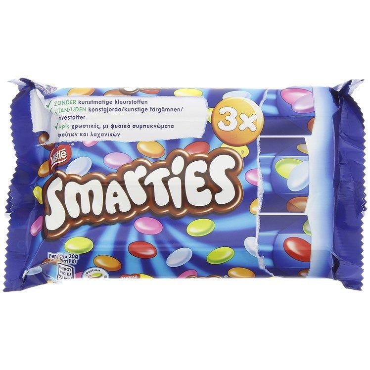 Pack de 3 tubes de bonbons Nestlé Smarties - 3x38 g