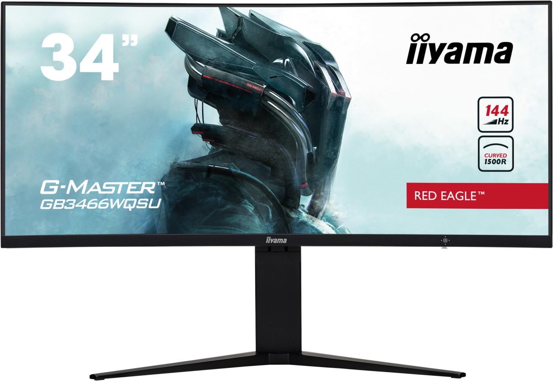 Écran PC incurvé Iiyama G-Master Red Eagle GB3466WQSU-B1 - UWQHD, LED VA, 144 Hz, 1 ms, FreeSync