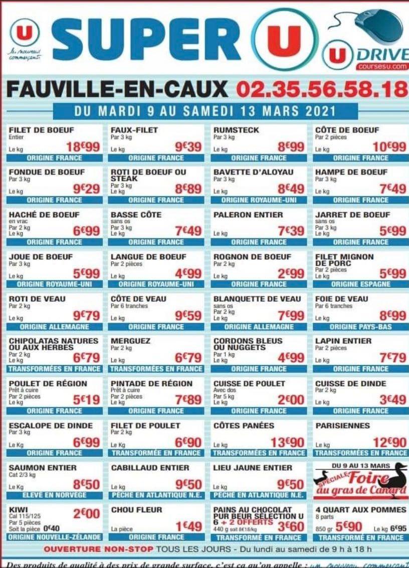 Sélection de produits de Boucherie en promotion - Fauville en Caux (76)