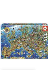Puzzle 500 pèces Educa : La folle carte d'Europe