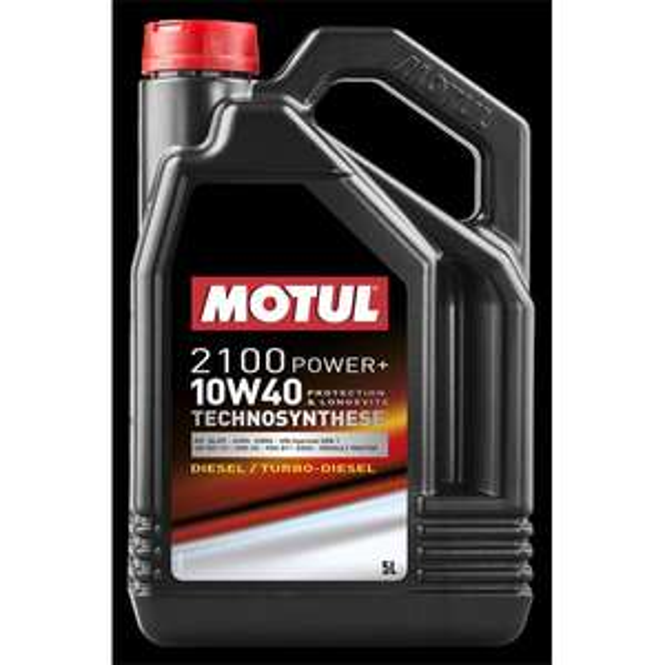 Bidon d'huile moteur Motul TechnoSynthèse 2100 Power+ Diesel ou Essence 10W-40 - 5 L