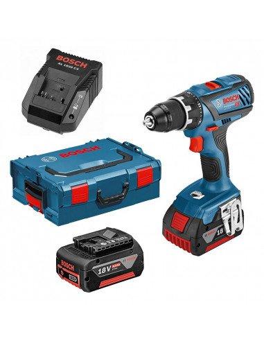 Perceuse visseuse Bosch GSR 18V-28 (2x4AH) en coffret L-Boxx - 0615990K3S