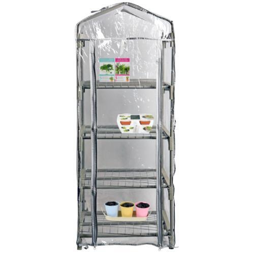 Serre de jardin - 4 étages - housse PVC transparente
