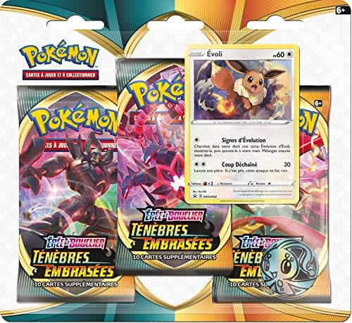 Pack 3 boosters Asmodée Pokémon Épée & Bouclier Ténèbres embrasées EB3