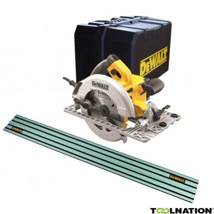Scie circulaire filaire DeWALT DWE576K-QS - 1600W, Ø190mm + Lame 24 dents + Rail 1.5 m + Coffret (toolnation.de)