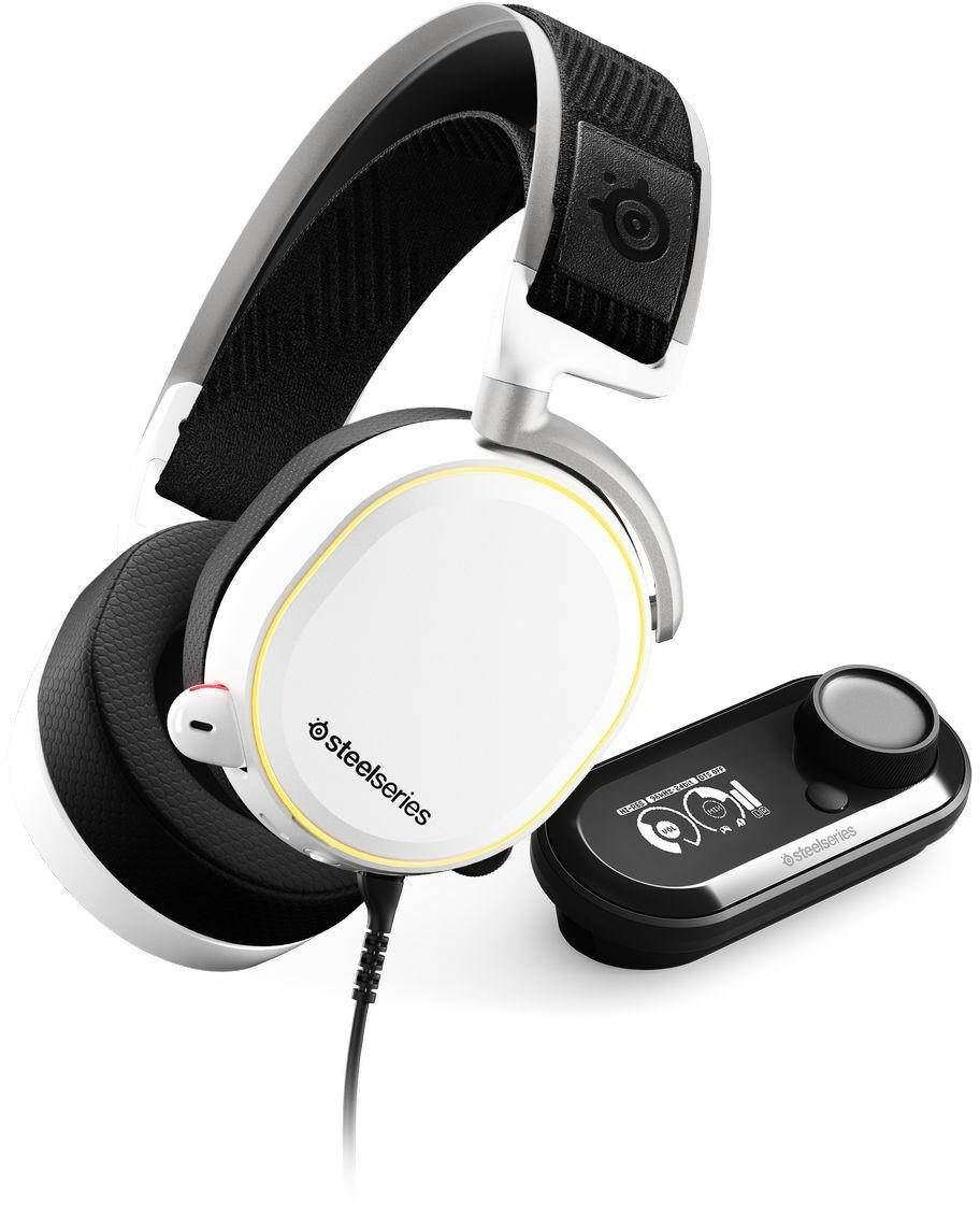 Casque audio filaire SteelSeries Arctis Pro (blanc) - avec GameDAC