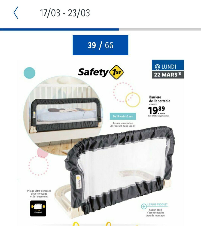Barrière de Lit Portable Bébé / Enfant Safety 1st