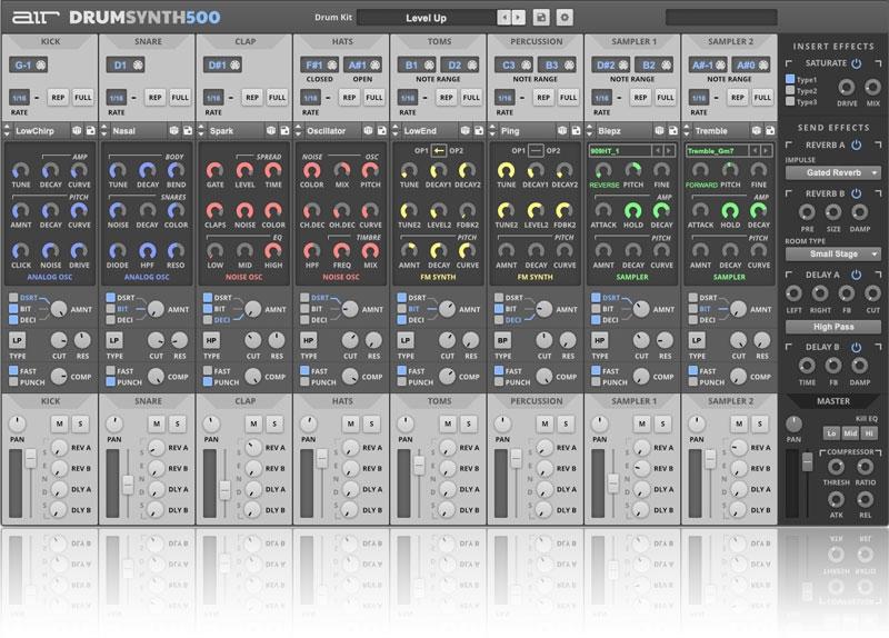 Plugin VST AU AAX Air Music Drum Synth 500 (Dématérialisé - jrrshop.com)