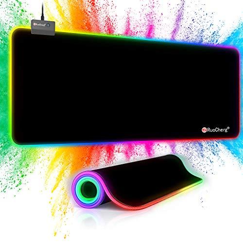 Tapis De Souris RGB RuoCherg - 800 x 300 x 4 mm ( Via Coupon - Vendeur Tiers)