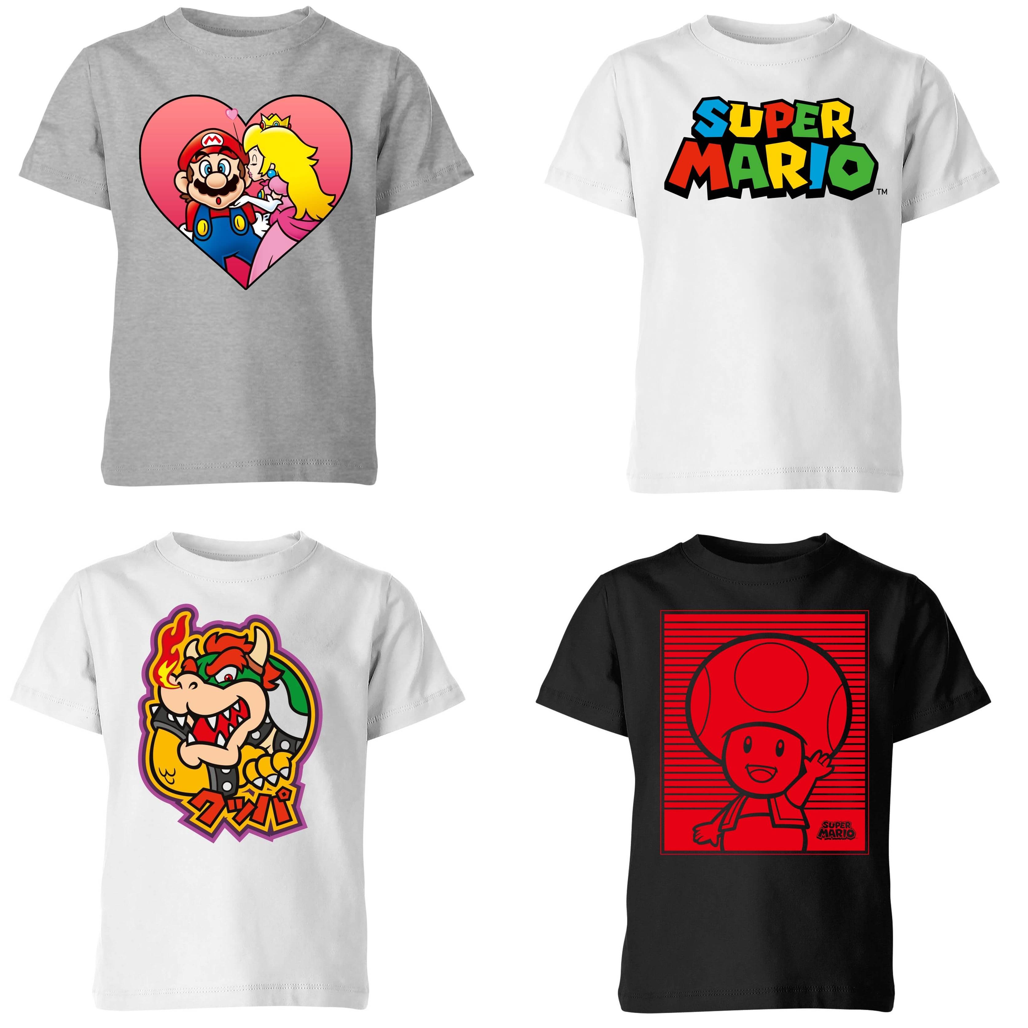 Sélection de T-Shirts Mario pour enfants en promotion