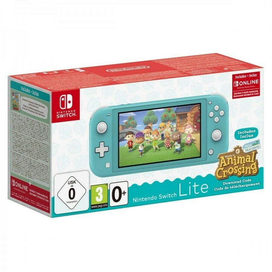 Console Nintendo Switch Lite + Animal Crossing: New Horizons + abonnement 3 mois Online + adaptateur secteur (via 4 x 25€ en bons d'achat)