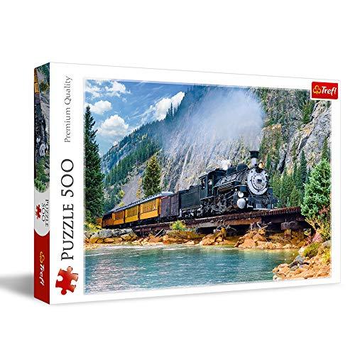 Puzzle Trefl Train dans la Montagne (37379) - 500 pièces