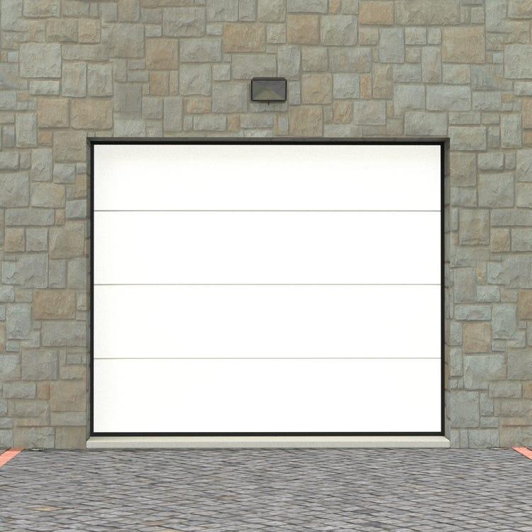Porte de garage sectionnelle motorisée Artens Essentiel - 200x240 cm, moteur Somfy, différents coloris