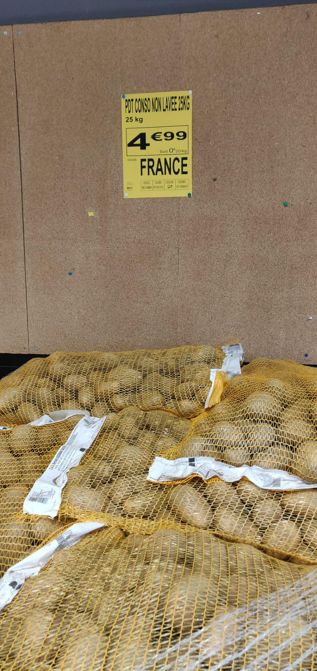 Filet de pommes de terre de consommation 25Kg - Valdahon (25)