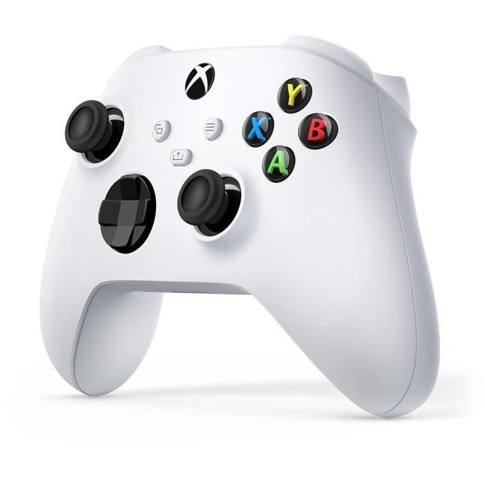 Manette sans fil Microsoft Xbox Series - Robot White ou Carbon Black (+ 2.50€ à cagnotter pour les CDAV)