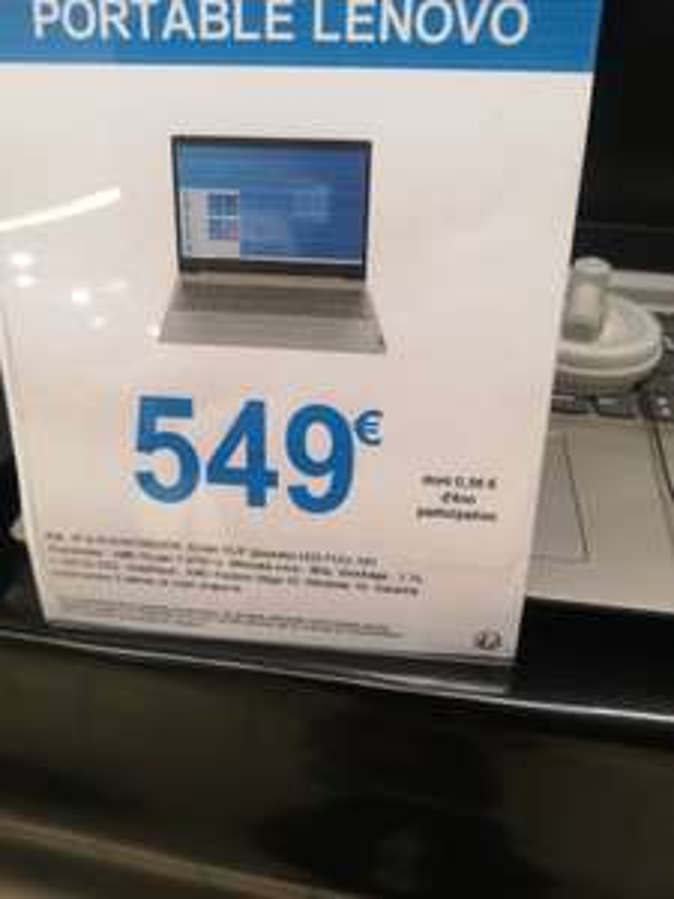 "PC Portable 15.6"" Lenovo IdeaPad 3 81W100D7FR - Ryzen 7 3700U, 8 Go de Ram, 1 To + 128 Go SSD, AMD Radeon Vega 10 - Leclerc St Gregoire (35)"