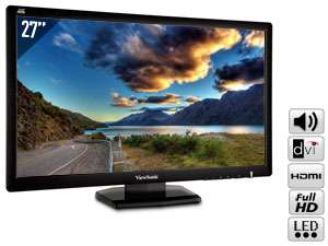 "Moniteur 27"" Viewsonic VX2703MH-LED - Full HD, HDMI / DVI - HP"