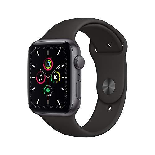 Montre connectée Apple Watch SE GPS - 44mm, Boîtier en aluminium gris sidéral avec bracelet sport noir