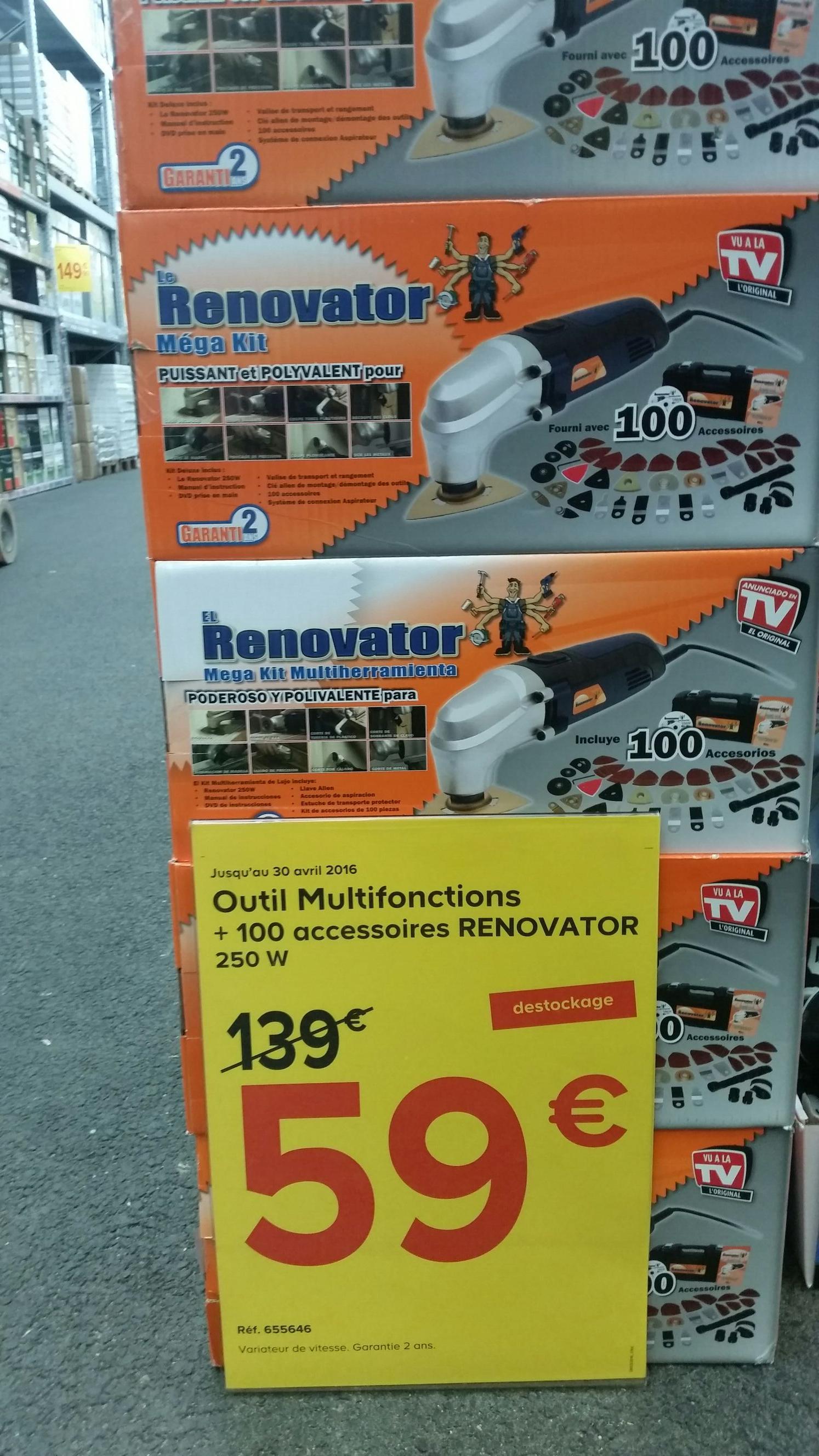 Outil Multifonctions Renovator 250w + 100 accessoires