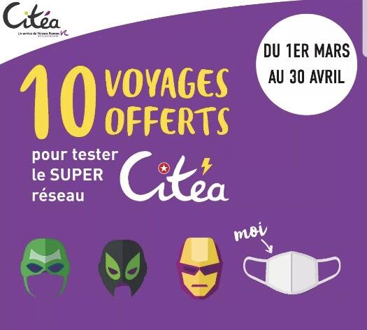 [+18 Ans / Résidents Valence-Romans] 10 Voyages offerts sur le réseau Citea (Sous conditions) - Valence-Romans (26)